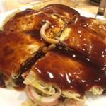 殻○ - 海鮮mix肉玉そば1280円