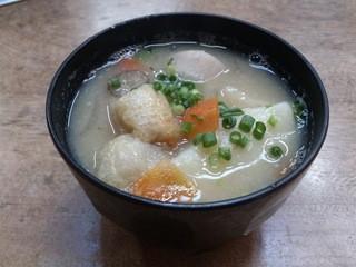 お栗茶屋 - ・美っ栗だご汁(小) 250円