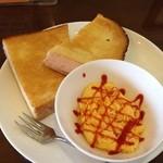 かみすばし珈琲 - (料理)トースト&スクランブルエッグ