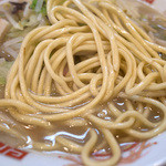 43471783 - 太い丸っとしたチャンポン麺。食べ応えも十分。