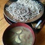 そば切 雨耕庵 - 2015 10 らくよう茸の味噌汁 (平日限定)