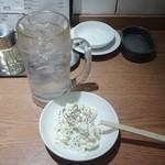 43473727 - レモンサワー302円+ポテサラ194円