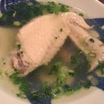 博多もと山 - お通し手羽先スープ
