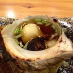 43484693 - 栄螺の焼物 お出汁たっぷり
