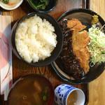 おやじの郷 - 料理写真:味噌カツランチで590円