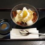鶴屋吉信 - 栗ほうじ茶パフェ(\1,188)