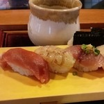 43491527 - ランチ握り寿司(お味噌汁付)・・税込1080円