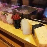 43491528 - ランチ握り寿司(お味噌汁付)・・税込1080円