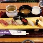 43491529 - ランチ握り寿司(お味噌汁付)・・税込1080円