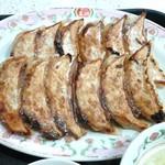 餃子の王将 - 期間限定、秋の餃子定食の餃子のアップです。(2015年10月)