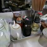 珍元 - 卓上の薬味たち