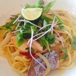 バルバラアターブル - 秋刀魚と九条ネギのパスタ アッサリ味ですがいい感じでした。