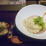 43499647 - (2015.9) 豚キムチと揚げ餅のつけ麺 900円(税別)