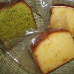 モン洋菓子店 - 料理写真:バターケーキ(大和茶・オレンジ風味)