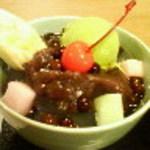 月ヶ瀬 - 抹茶クリームあんみつ815円