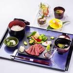四季彩 ミズノ - 信州牛ステーキ御膳2800円