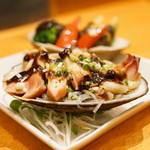 Nomka - 2015.10 ホッキ貝の黒豆ソース蒸し(1,480円)