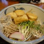 魚要 - 湯波そば 冷 1300円