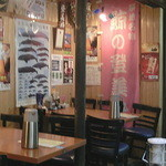 Kujiranotomisui - 店内(テーブル席)