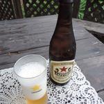 ペペローネ - 瓶ビールは赤星♪