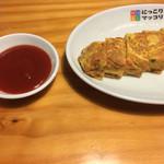 43518280 - 韓国風卵焼き  ケチャップで食べる