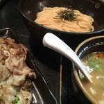 43528728 - つけ麺 + 炙り豚生姜焼き
