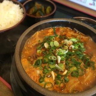 一平ちゃん - 【一平ちゃん】 クッパ定食 (豆腐、とき玉子トッピング)