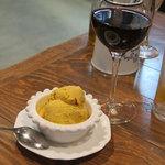 イタリアンバル PONTE - パンプキンジェラートと赤ワイン
