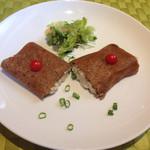 ダニーズレストラン - 日替わりガレット(チキンとキノコとパスタ)