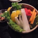 UTAGE屋どっと - 肉みそ野菜スティック(ハーフサイズ)