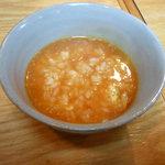 神戸ちゃんこ部屋 - チーズ雑炊(トマトちゃんこ)