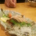 食彩食道とび田 - アンキモ。ご当地名物あんこう鍋は11月からだそうです。