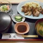 嘉膳 - 料理写真:舌下ステーキあみ焼き膳