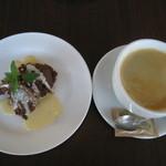 カフェ グラーノ - チョコレートフォンダン コーヒー