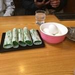 43546750 - さば寿司、ゆで玉子