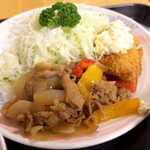 ダイシン ファミリーレストラン - 定番の生姜焼きは、しっかりした肉の食感、甘辛く食欲をそそる味付け!