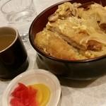 43549809 - 15.10.21:カツ丼と漬け物、スープ