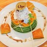 Vege - カボチャと豆大福アイスの抹茶パンケーキ