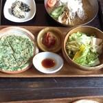 43551065 - 冷麺とチジミセット