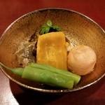 銀座 日本料理 朱雀 - 炊き合わせ