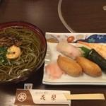 花梨 - 料理写真:茶そばとお寿司