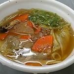 いちば亭 - 牛肉汁200円