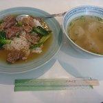 金宝酒家 - ランチ(牛バラ御飯とワンタン)
