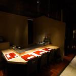 和食鉄板 銀座 朔月 - カウンターでは料理長との会話も愉しめます。