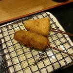 串揚げ ひら乃 - カマンベールチーズと牛肉