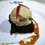 ビストロ・モンペリエ - チョコレートケーキ バニラアイス添え