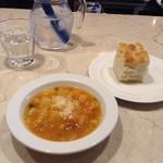 43565968 - ローマ風野菜のスープ+フォカッチャ