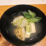 かま田 - ②御椀 鱧、松茸、三つ葉