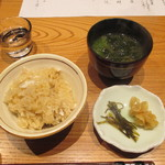 かま田 - ②御食事 たいめし、みそ汁、香物