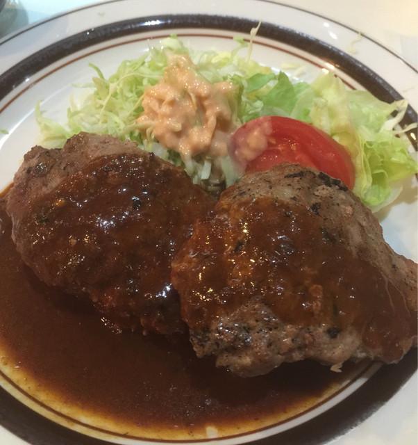 ハンブルク - Wハンバーグ定食 750円